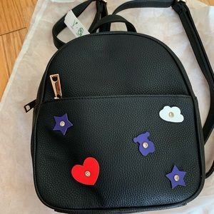 Casual Fashion Leather Black Backpack